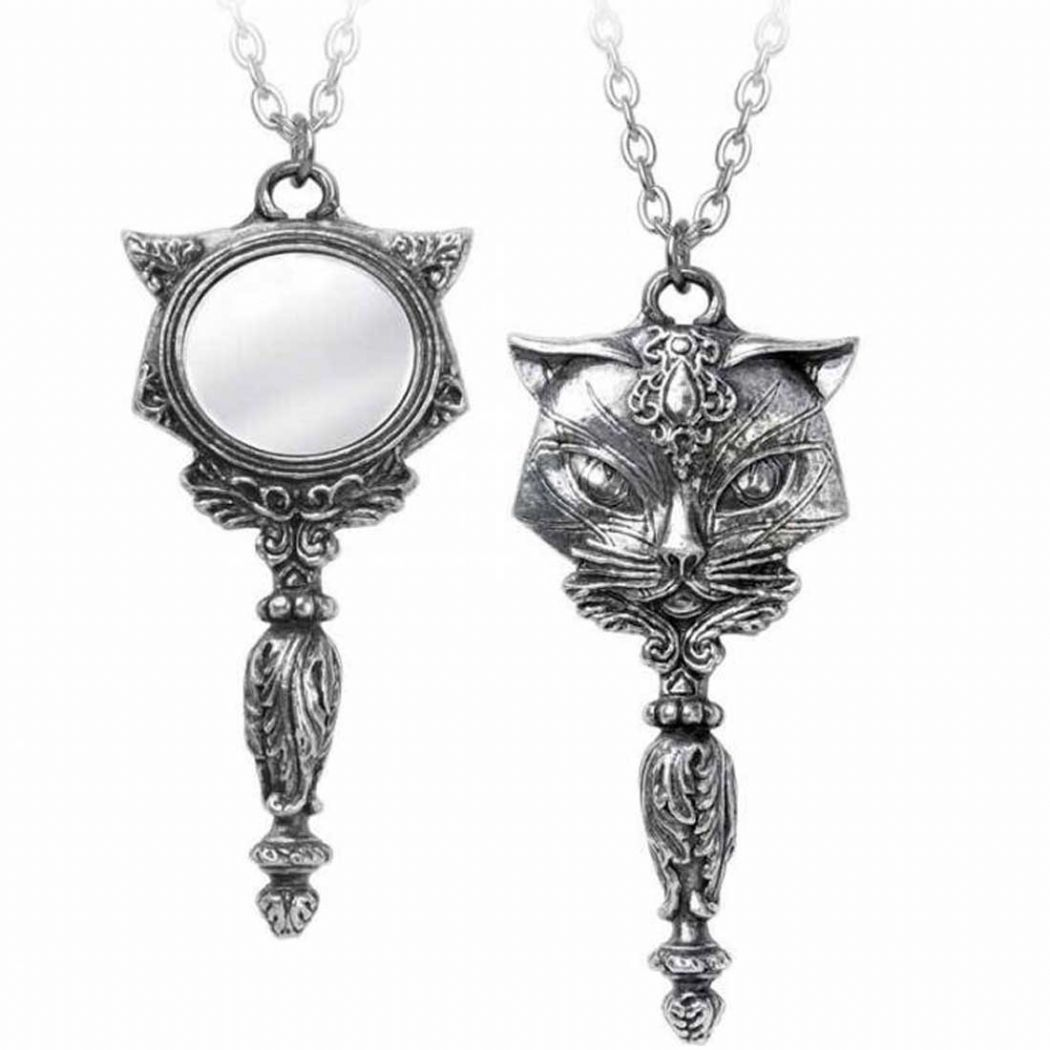 ALCHEMY GOTHIC  Sacred Cat Vanitas Necklace